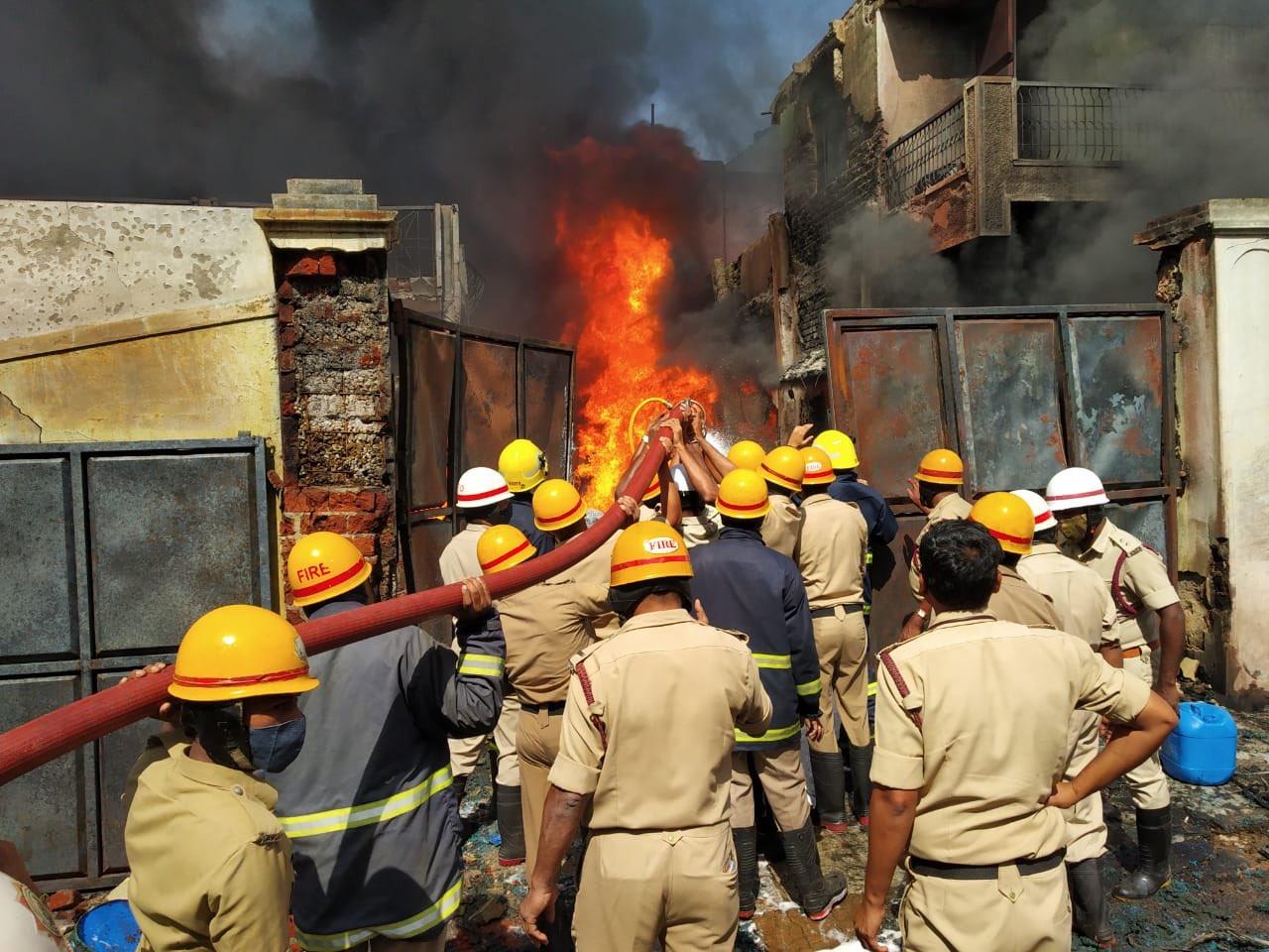 Bapujinagar Fire