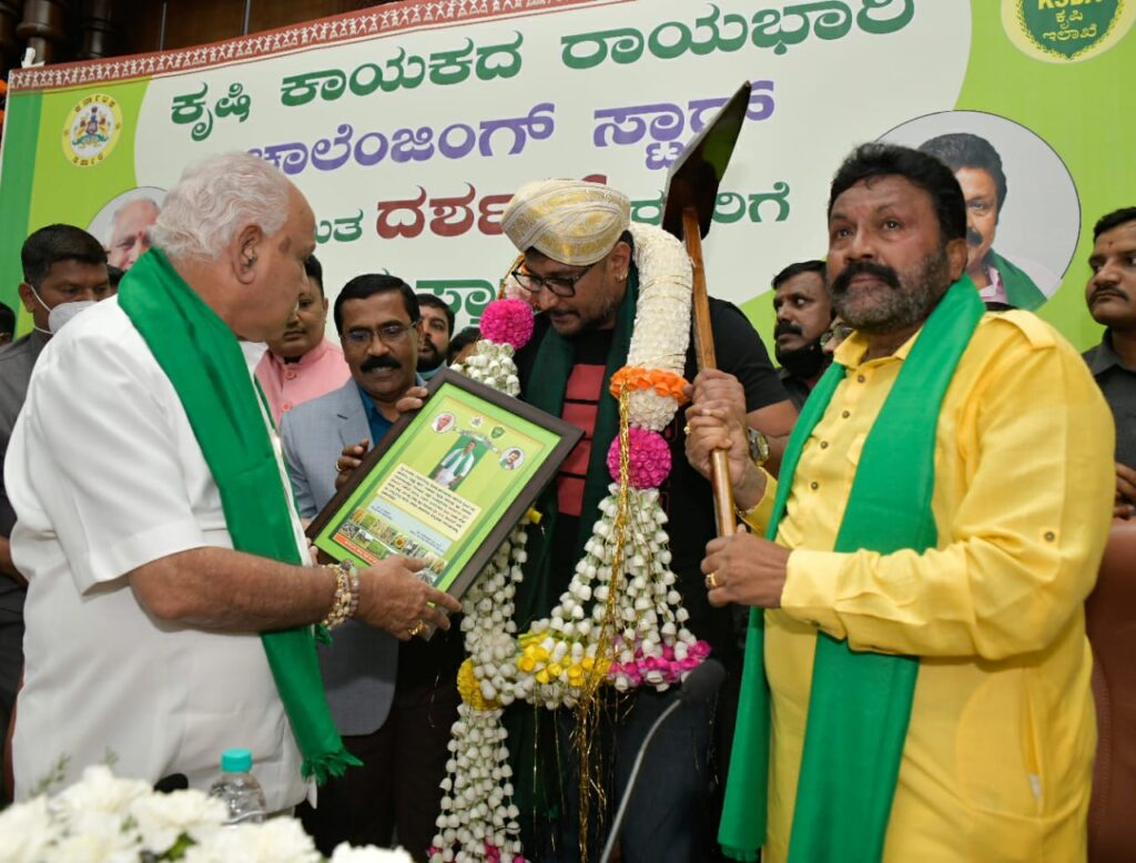 Challenging Star Darshan takes over as Agriculture departments Ambassador 1