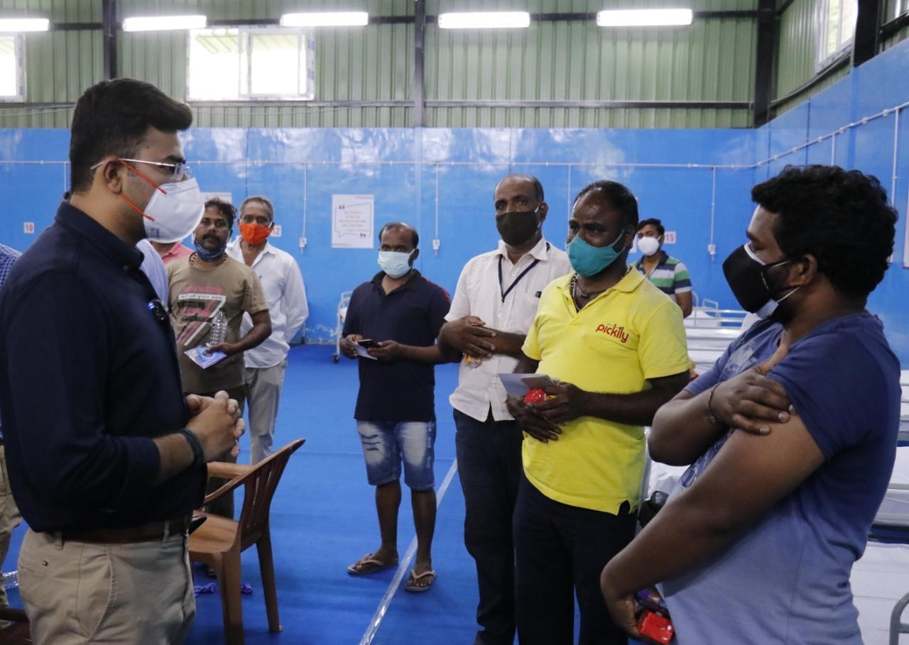 Tejasvi Surya gets one thousand auto drivers free Covid vaccination2