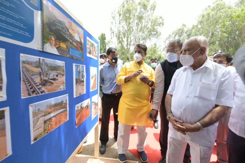 Karnataka CM inspects Sub Urban rail project in Bengaluru4 Copy