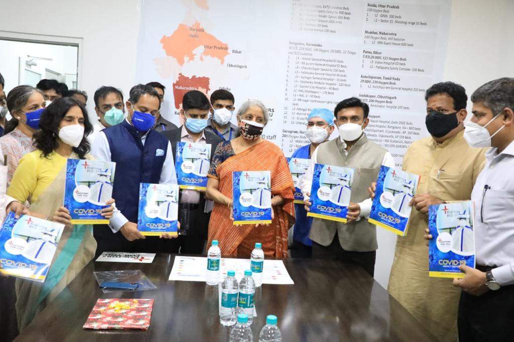 Nirmala Sitharaman visits Yelhanaka Covid Hospital