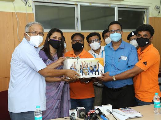 sanitizer and mask donation for SSLC examination in Karnataka 1