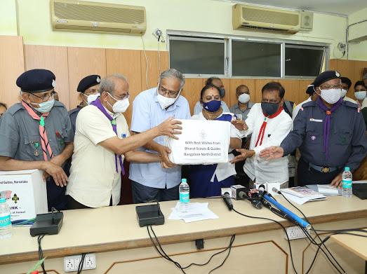 sanitizer and mask donation for SSLC examination in Karnataka 2