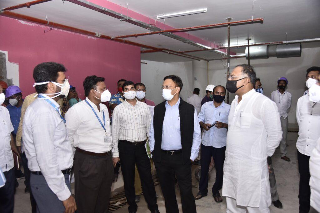 Bengaluru multi-level parking lot nearing completion