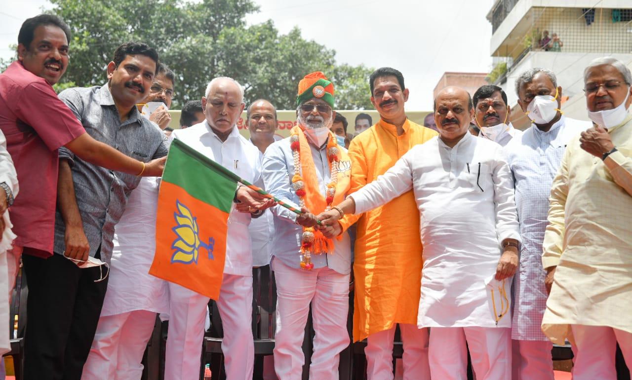 Expelled BSP MLA N Mahesh joins BJP